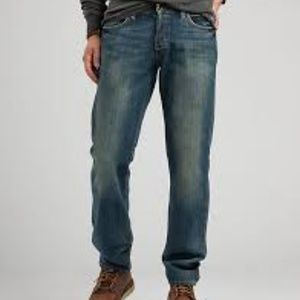 LUCKY BRAND  JEAN DUNGAREES SIZE 34